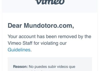 vimeo censura mundotoro