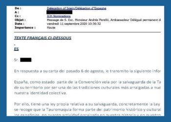 El Estado español reconoció ante UNESCO sus obligaciones legales con la Tauromaquia, dos meses antes de excluirla de los PGE