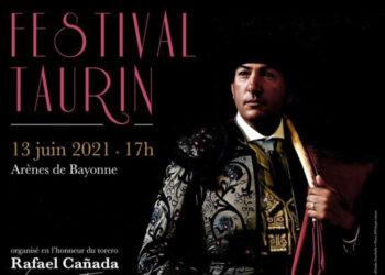 Cartel de arte para homenajear a Rafael Cañada en Bayona