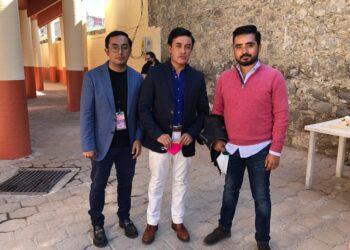 Rafael Ortega (centro) Rafael Ortega hijo (izq.) y Othón Ortega (der.) los empresarios de Huamantla. l GUILLERMO LEAL