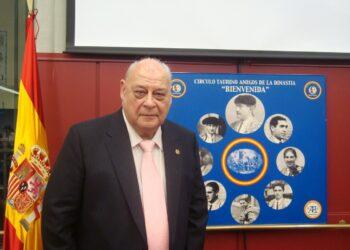 El periodista José Antonio Donaire, en un homenaje del Círculo Amigos de la Dinastía Bienvenida l ARCHIVO