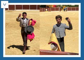 Orejas para 'El Albarrate' y Curro Padilla, en la becerrada de Camas que abrió el nuevo ciclo