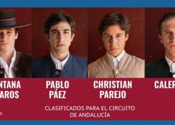 Liga Nacional de Novilladas, Andalucía, Santana Claros, Calerito, Christian Parejo, Pablo Páez