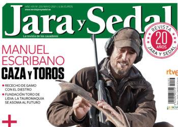 Manuel Escribano, portada de la revista de Jara y Sedal